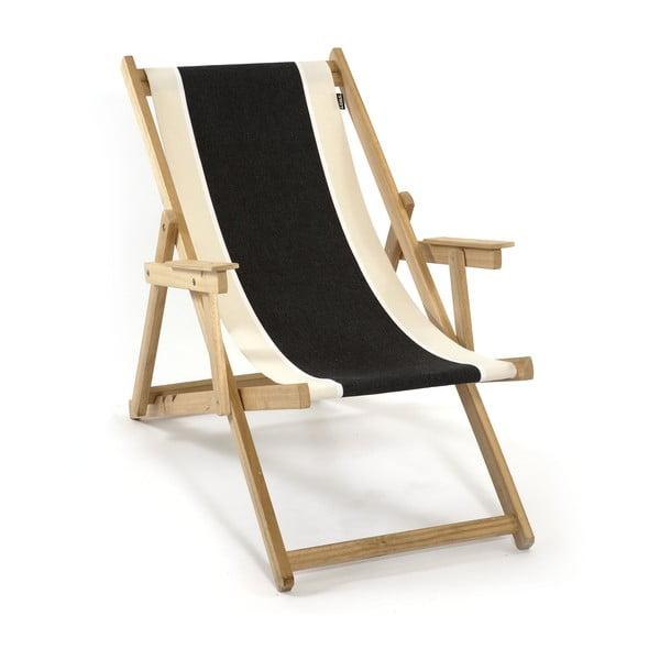 Leżak składany Beach, czarny