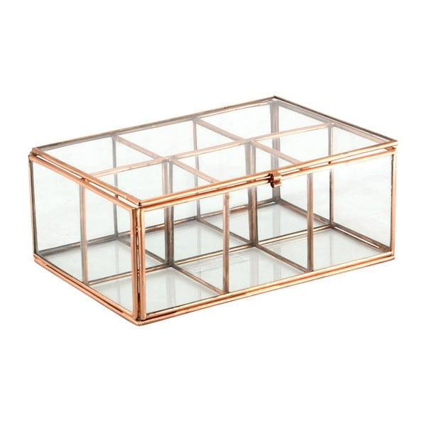 Szklany pojemnik Six Copper
