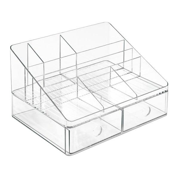 Organizer biurowy z szufladkami InterDesign Linus Transparent