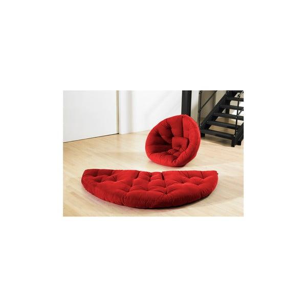 Fotel rozkładany Karup Nest Red
