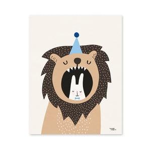 Plakat Michelle Carlslund Lion & Bunny, 50x70cm