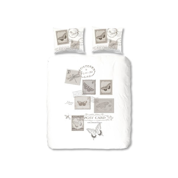 Pościel Postage, 200x200 cm, szara