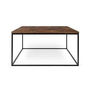 Brązowy stolik z czarnymi nogami TemaHome Gleam, 75 cm