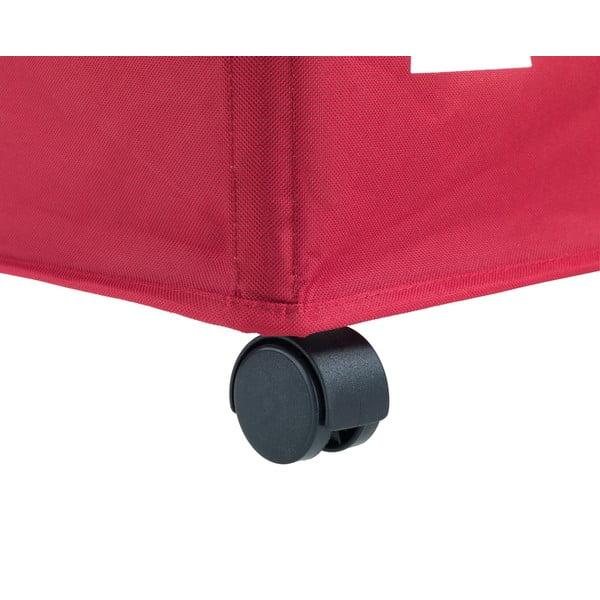 Czerwony potrójny kosz na pranie Wenko Trivo