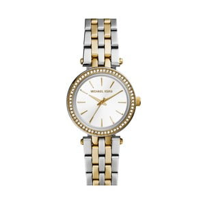 Srebrno-złoty zegarek damski Michael Kors Editte
