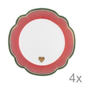 Porcelanowy talerz Holiday Lisbeth Dahl, 24 cm, 4 szt.