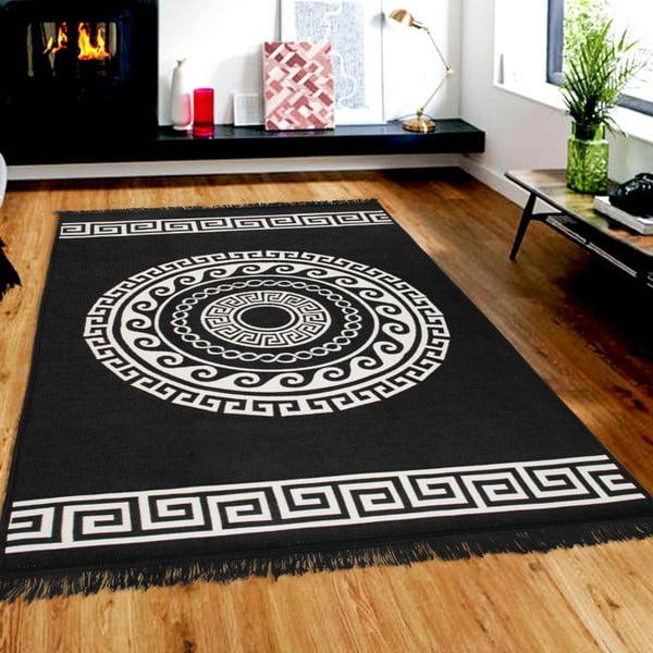 Beżowo-czarny dywan dwustronny CihanBilisimTekstil Mandala, 120x180 cm