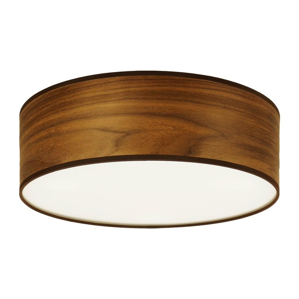 Lampa sufitowa z naturalnego forniru w kolorze drewna orzechowego Sotto Luce TSURI, ⌀30cm