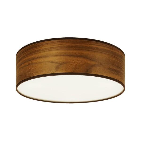 Lampa sufitowa z naturalnego forniru w kolorze drewna orzechowego Sotto Luce TSURI, Ø 30 cm