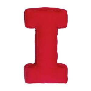 Poduszka w kształcie litery I, czerwona