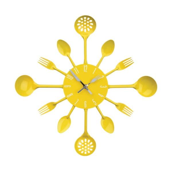 Zegar Yellow Cutlery, 43 cm