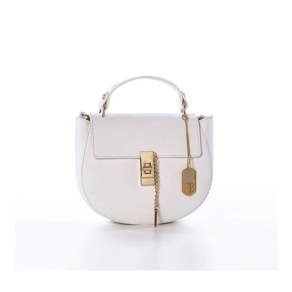 Biała torebka skórzana Federica Bassi Virgin
