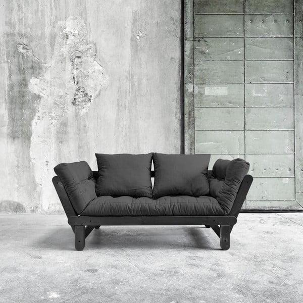 Sofa rozkładana Beat Black/Dark