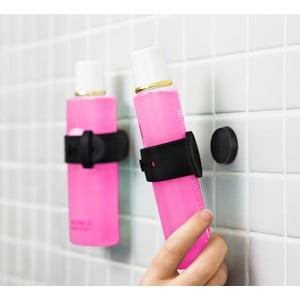 Czarny magnetyczny uchwyt na szampon lub żel pod prysznic Reenbergs