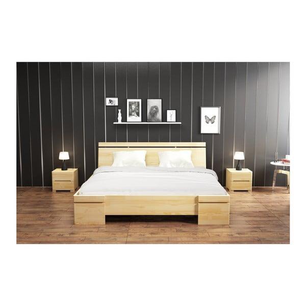 Łóżko dwuosobowe z drewna sosnowego ze schowkiem SKANDICA Sparta Maxi, 160x200 cm