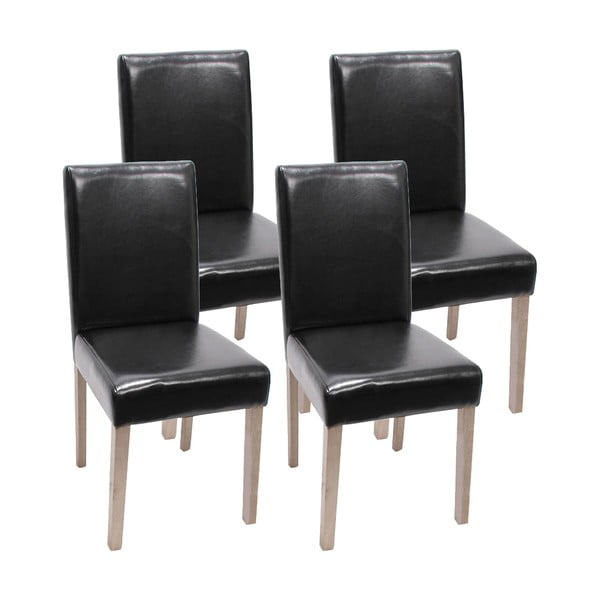 Komplet 4 czarnych krzeseł do jadalni Mendler Littau