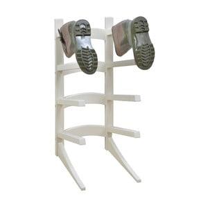 Biały stojak na 4 pary butów z drewna sosnowego Esschert Design Wellies