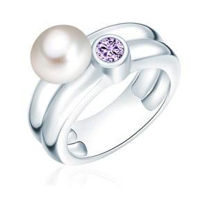 Pierścionek z perłą i cyrkonią Nova Pearls Copenhagen Lynkeus, rozm. 54