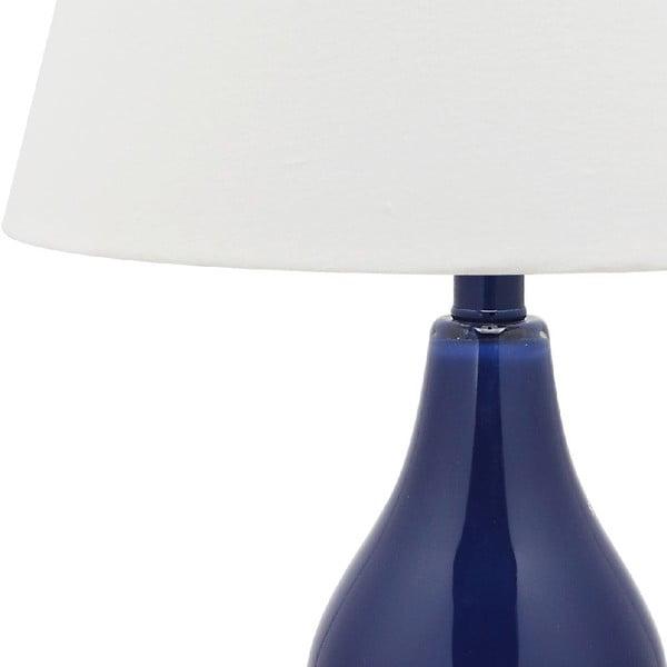 Zestaw 2 lamp stołowych z niebieską podstawą Safavieh Kara