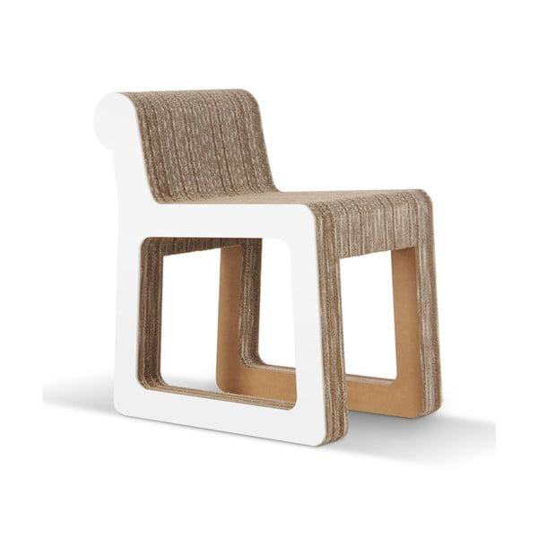 Kartonowe krzesło Knob White