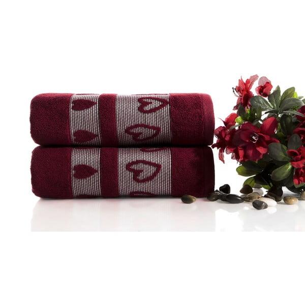 Zestaw 2 ręczników Larisa V1, 50x90 cm