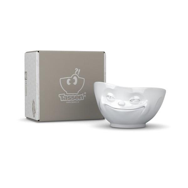 Biała porcelanowa uśmiechnięta miska 58products