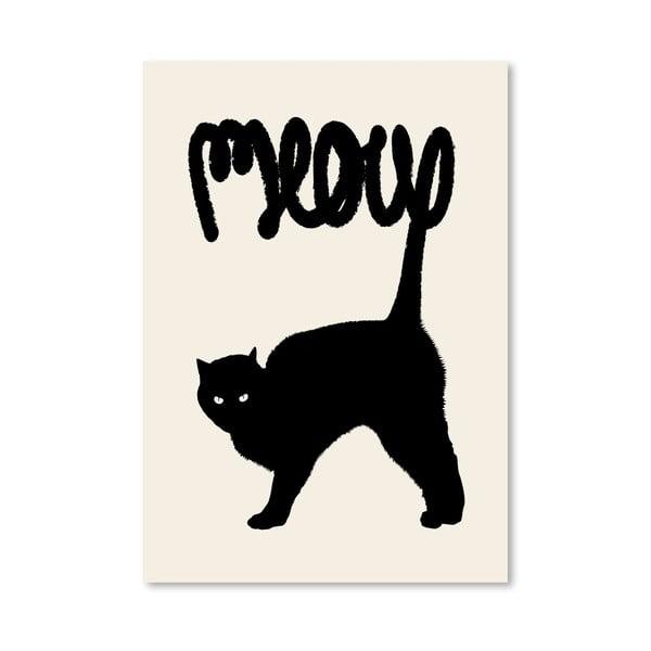 Plakat Meow, 30x42 cm