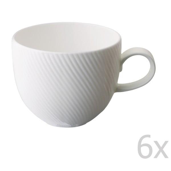 Zestaw 6 kubków z porcelany angielskiej Flute, 375 ml
