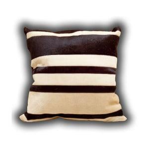 Poduszka skórzana Stripes, 45x45 cm