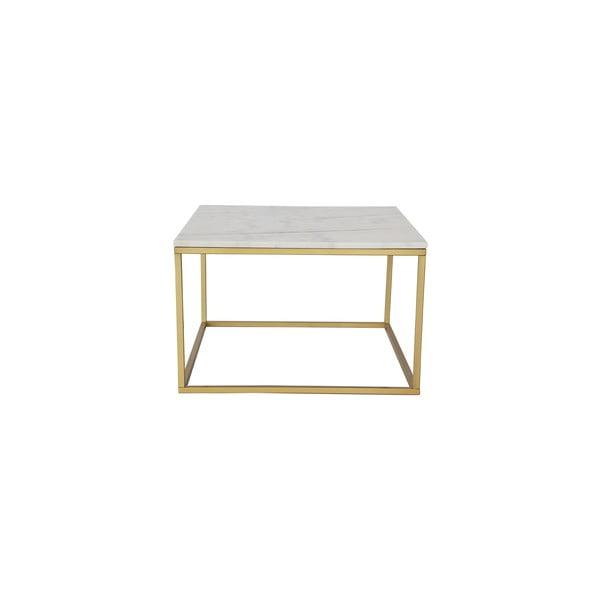 Marmurowy stolik z konstrukcją z mosiądzu RGE Accent, 75x75cm