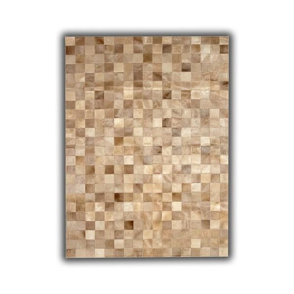 Dywan skórzany Beige Tones, 140x200 cm