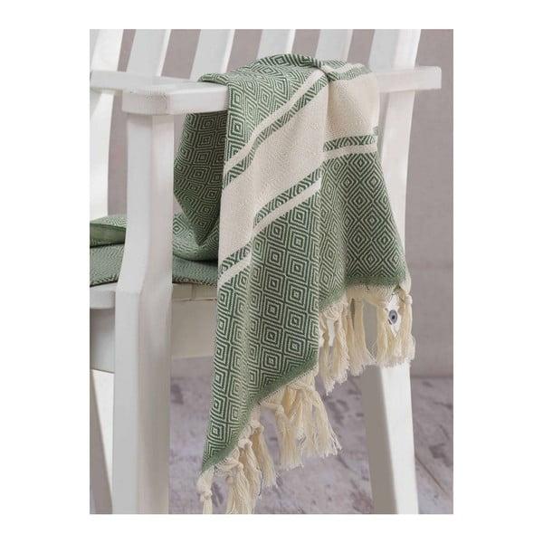 Ręcznik hammam Elmas Khaki, 100x180 cm