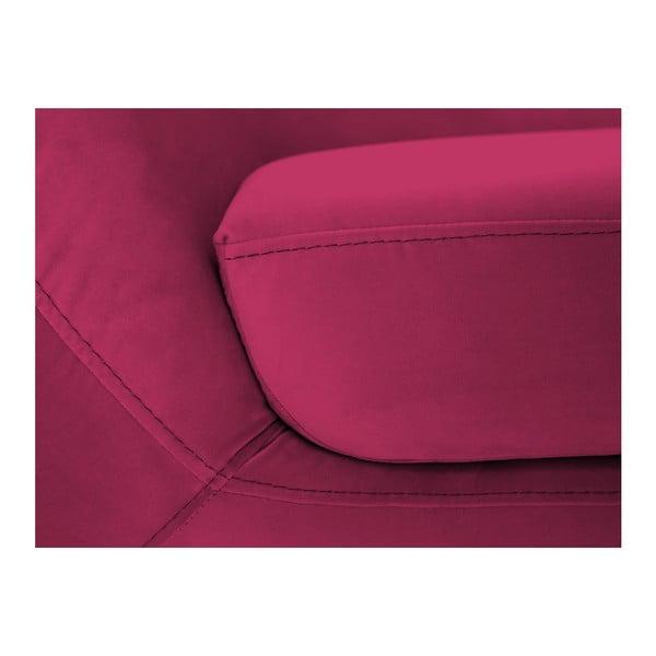 Różowa sofa 3-osobowa z czarnymi nogami Mazzini Sofas Amelie