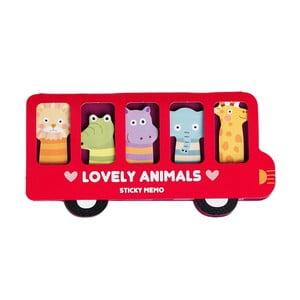 Zestaw karteczek samoprzylepnych Rex London Lovely Animals