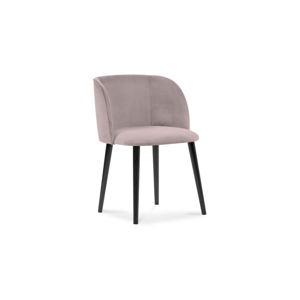 Fioletowe krzesło z aksamitnym obiciem Windsor & Co Sofas Aurora