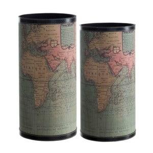 Zestaw 2 stojaków na parasole Cosas de Casa Mapa świata