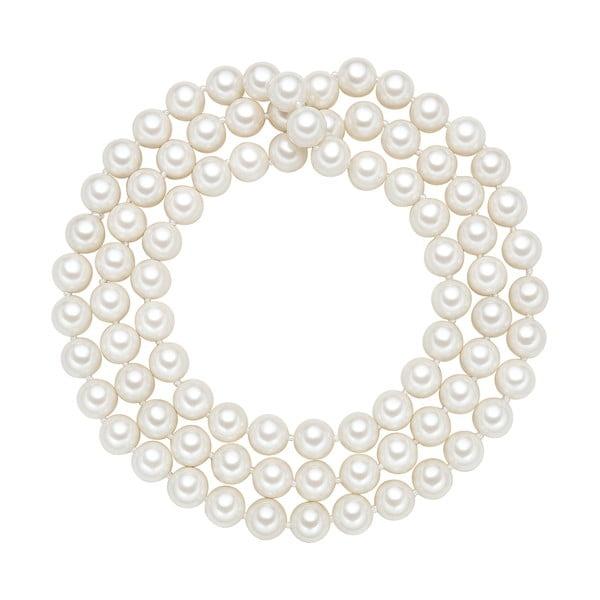 Naszyjnik z białych pereł ⌀ 10 mm Perldesse Muschel, długość 90 cm