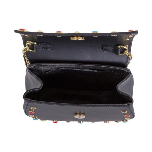 Czarna torebka skórzana Andrea Cardone Anjelica