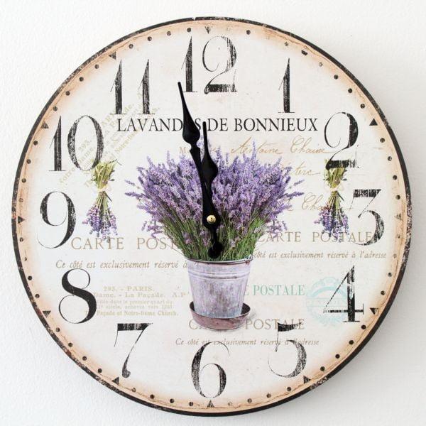Zegar vintage Lavenders de Bonnieux