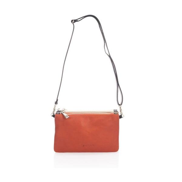 Skórzana torebka Krole Kody z 3 kieszonkami, pomarańczowa