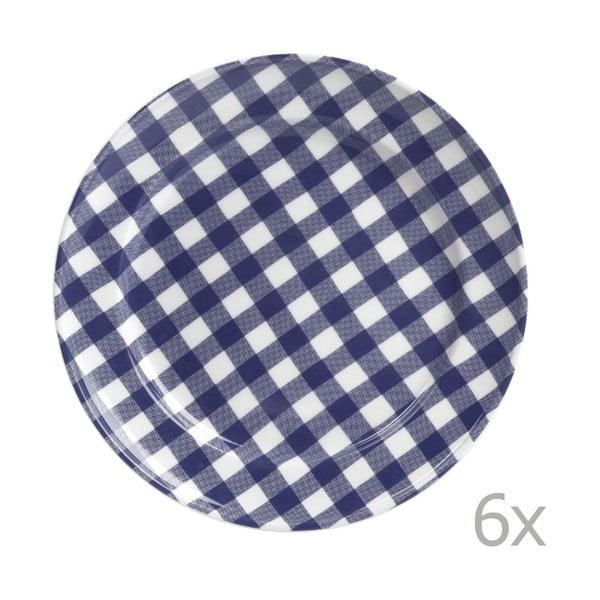 Zestaw 6 talerzy Livia 42 cm, niebieski