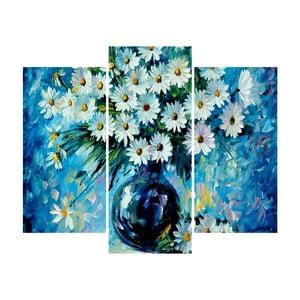 Trzyczęściowy obraz Blue Art