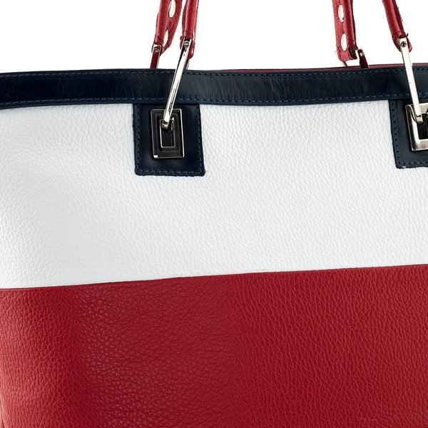 Torebka Mantova, biało-czerwona