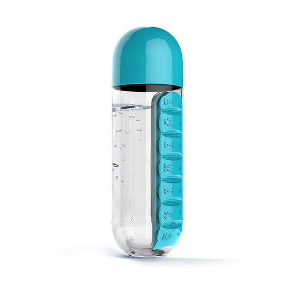 Butelka z pojemnikiem na leki In Style Blue