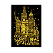 Plakat New York Black&Yellow, 50x70 cm