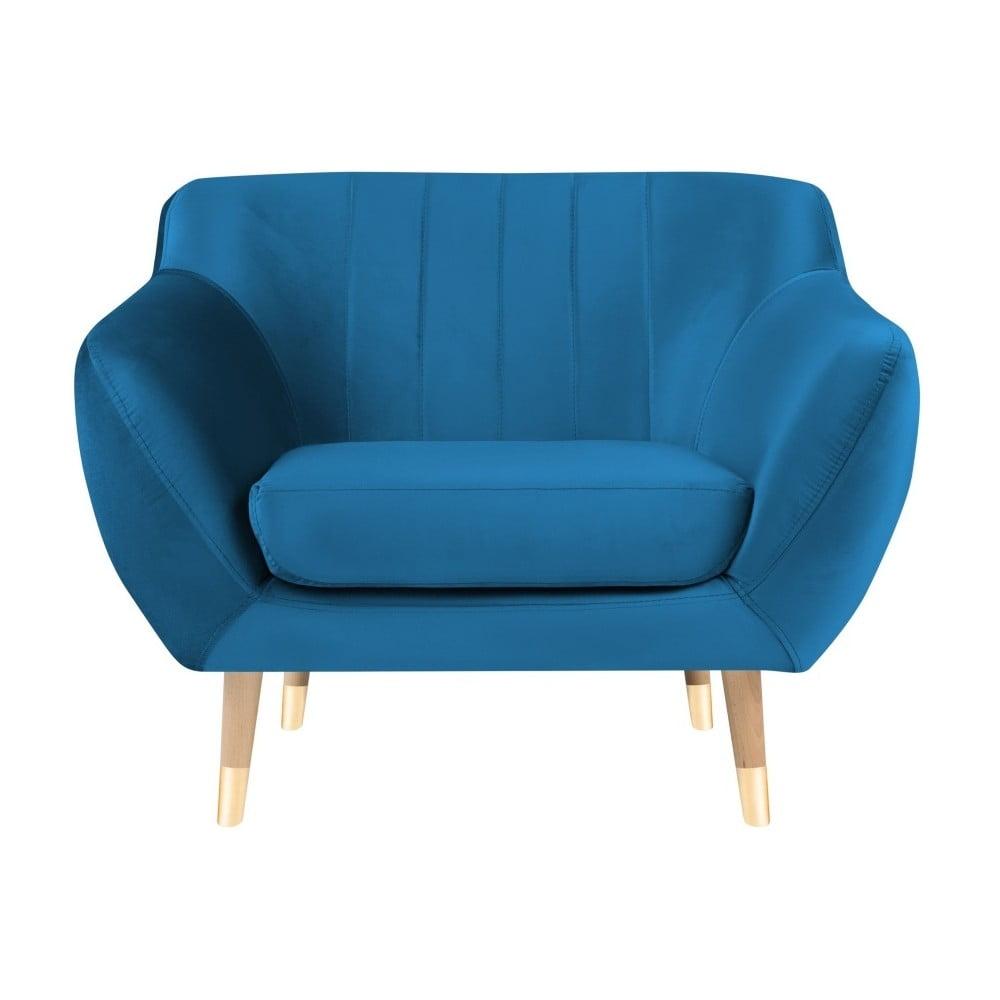 Niebieski fotel Mazzini Sofas Benito