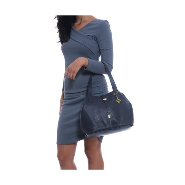 Skórzana torebka Isabella Rhea 1116 Blu
