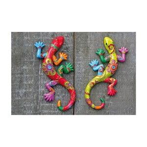 Zestaw 2 dekoracji ściennych Exotic Lizards