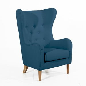 Ciemnoniebieski fotel Max Winzer Miriam