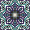 Naklejki Tile Art Blue Symbols
